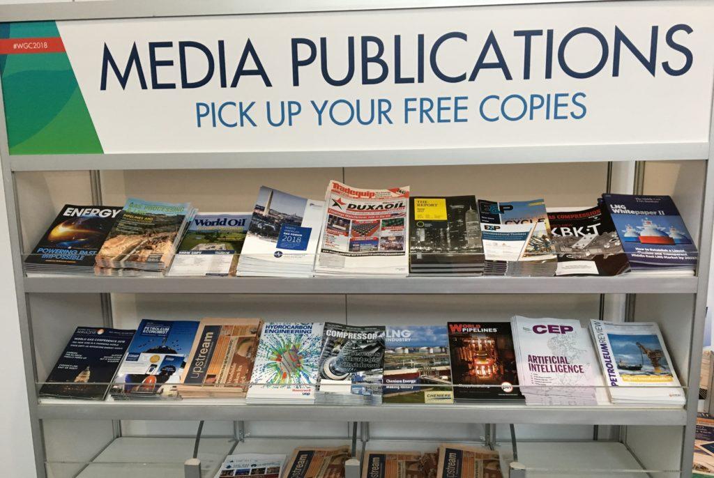WGC 2018 media rack