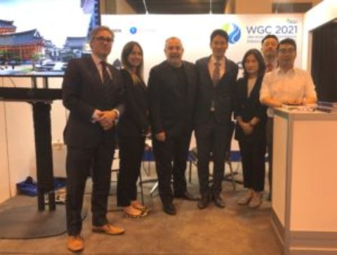 The WGC 2021 Team Exhibit at Gastech