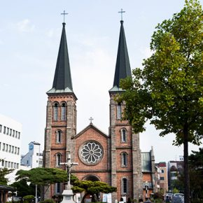 The first Catholic cathedral in Daegu built between 1902 and 1903